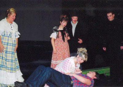 Shirley Stanley, Alison Adams, John Hall, Marcus Bridger (standing, l to r) Janna Mutton, Mark Williams (front)