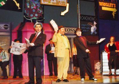 Tony Lacey, Tony Jay, Mark Williams (front, l to r)