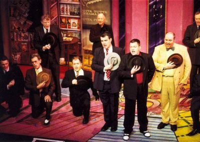 Marcus Bridger, Barrie Cole, Nigel Green, Jonathan Southall (kneeling, l to r), Tony Lacey, Mark Williams, Tony Jay (standing front, l to r)