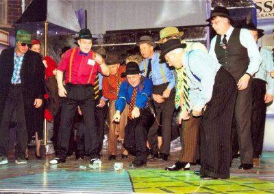 John Baker, Mark Williams, Nigel Green, Bob Taylor, Ron Munro (front, l to r)