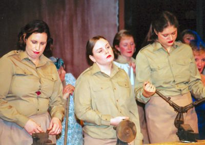 Michelle Buckley, Sophie Grogan, Rosalyn Chalk (front, l to r)