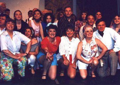 Pearl Taylor, Karen Wilson, Barbara Hall, Linda Beck, Eileen Parish, Alan Hirons (front, l to r)