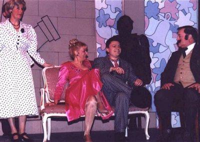 Jean Chalk, Liz Bird, Mark Williams, John Hall (l to r)