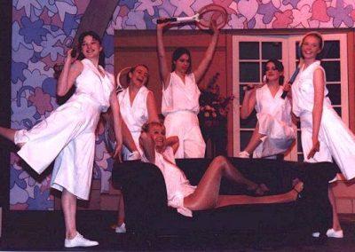 Hayley Berrisford, Tracy Rees, Rosalyn Chalk, Susan Tudberry, Philippa Greenfield (standing, l to r), Liz Bird (seated)