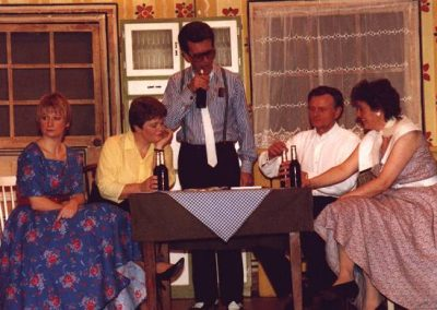 Julie Keeley, Bev Hatton, Barrie Cole, Alan Hirons, Jean Chalk (l to r)