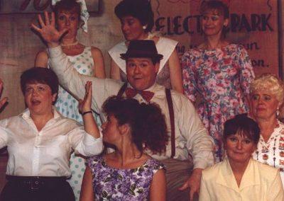 Tony Jay (centre), Paula Payne, Jean Chalk, Liz Bird, Eileen Parish, Linda Beck, Kirsty Hirons, Bev Hatton (clockwise from top left)
