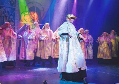 Liz Bird and nuns