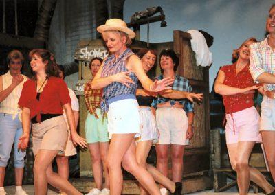 Alison Adams, Joy Hatt, Carole Massey, Janna Mutton, Paula Lacey (dancers, l to r)
