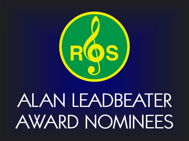 Nominees for 2016/17 Alan Leadbeater Award