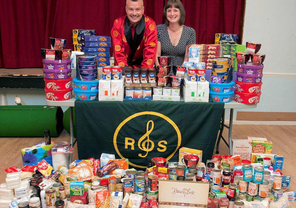 Donation to Redditch Food Bank